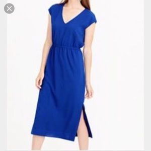NWOT J. Crew Perforated Drapey Side-Slit Dress, S8